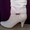 Сапоги,  сапожки белые 40 р-р #121418