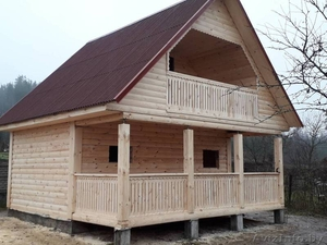 Дом-Баня из бруса готовые срубы с установкой-10 дней недорого Жодино - Изображение #1, Объявление #1616349